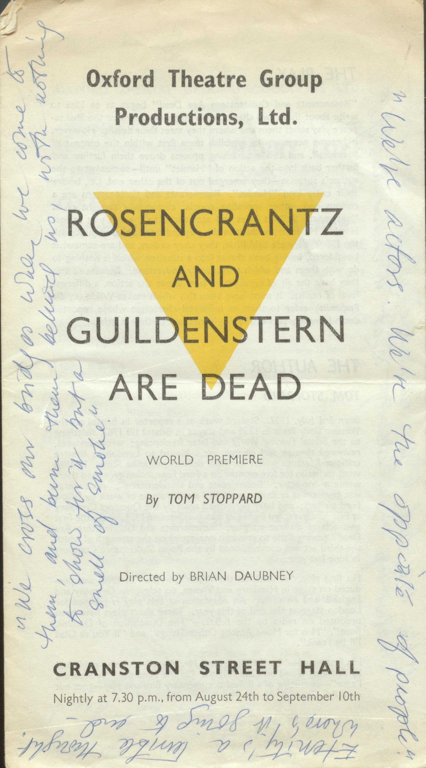 an overview of rosencrantz and guildenstern are dead a play by tom stoppard